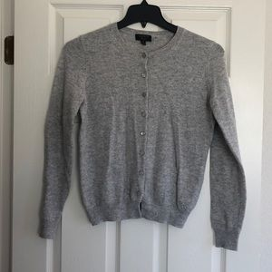 100% Cashmere Grey Cardigan